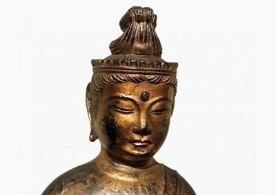 RARE GILT BRONZE BUDDHA (11)