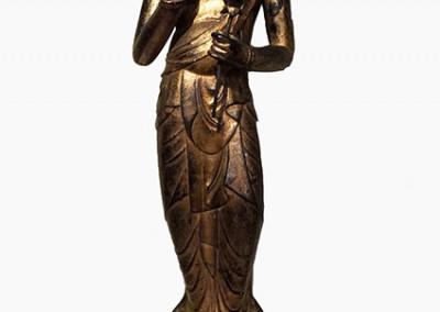 RARE GILT BRONZE BUDDHA (2)