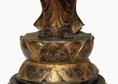 RARE GILT BRONZE BUDDHA (3)