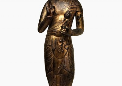 RARE GILT BRONZE BUDDHA (4)
