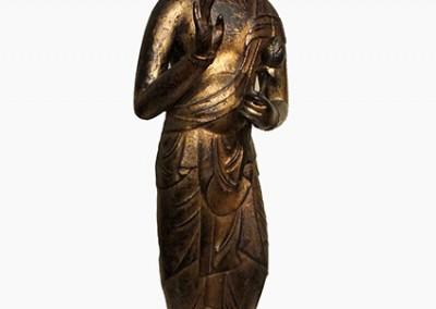 RARE GILT BRONZE BUDDHA (5)