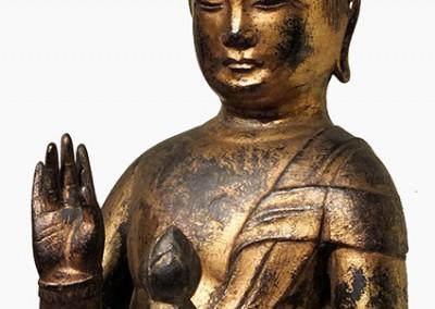 RARE GILT BRONZE BUDDHA (7)