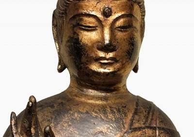 RARE GILT BRONZE BUDDHA (8)