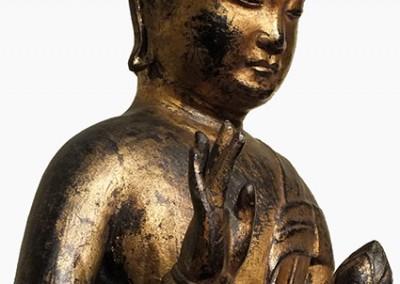 RARE GILT BRONZE BUDDHA (9)