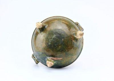 Green Glazed Tripod Vessel (1)