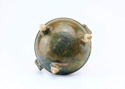 Green Glazed Tripod Vessel (1)