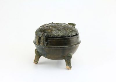 Green Glazed Tripod Vessel (10)