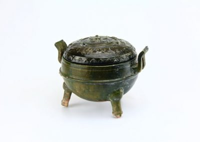 Green Glazed Tripod Vessel (11)