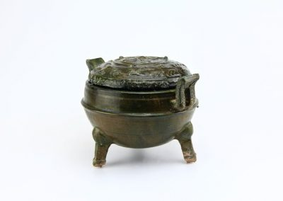 Green Glazed Tripod Vessel (8)
