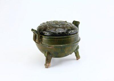 Green Glazed Tripod Vessel (9)