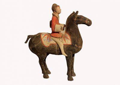 Pottery Equestrian Figure (1)