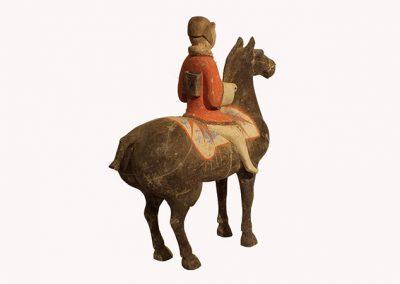 Pottery Equestrian Figure (2)