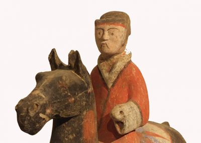 Pottery Equestrian Figure (3)