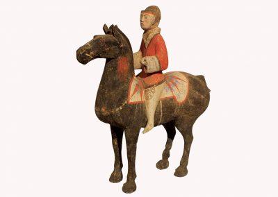 Pottery Equestrian Figure (4)