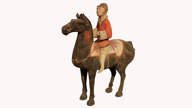 Pottery Equestrian Figure