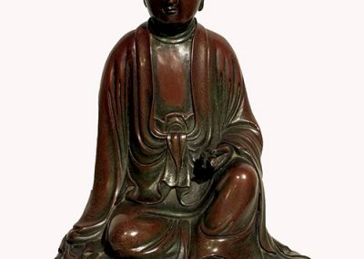 Silver Wire Inlaid Bronze GuanYin (1)
