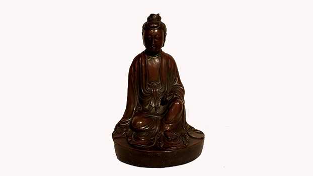Silver Wire Inlaid Bronze GuanYin