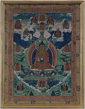 Thangka Medicine Buddha