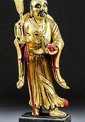 Chinese Giltwood Bodhidharma