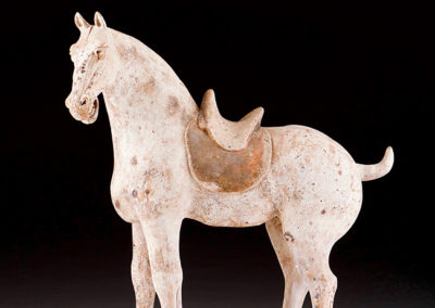 Unusual Pottery Saddled Horse (2)