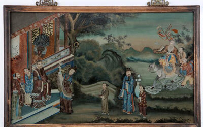 CHINESE REVERSE GLASS PAINTING