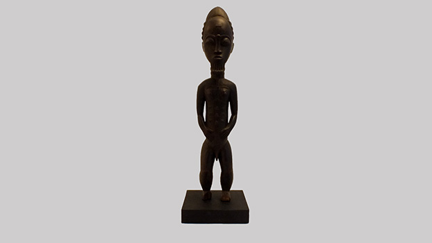 Exceptional Baule Male Figure
