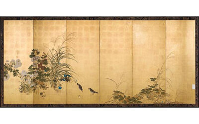 FINE JAPANESE FOLDING SCREEN
