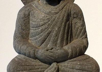 Gray Schist Figure Seated Buddha (1)