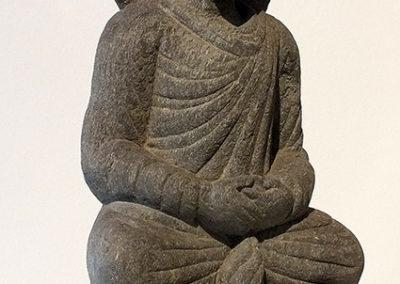 Gray Schist Figure Seated Buddha (2)