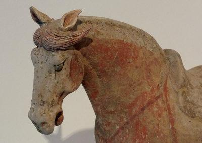 Painted Grey Pottery Saddle Horse (3)