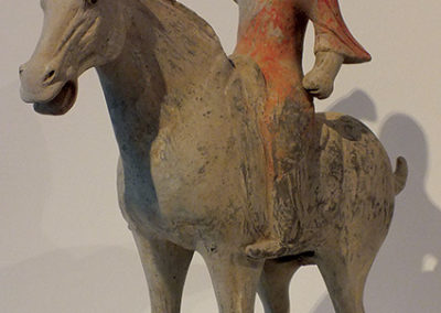 Painted Red Pottery Equestrian Figure (10)