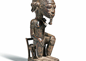 Fine Baule Seated Male Figure