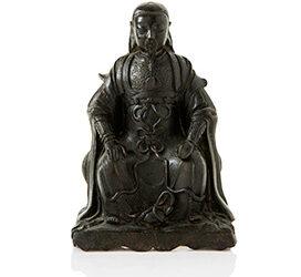 Fine Bronze Figure Zhen Wu