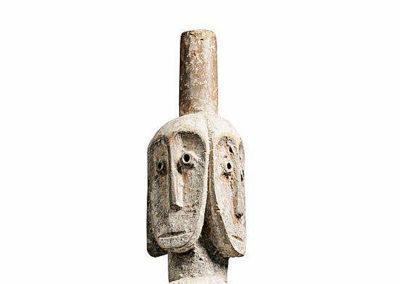 Rare Lega Several Heads Figure (3)