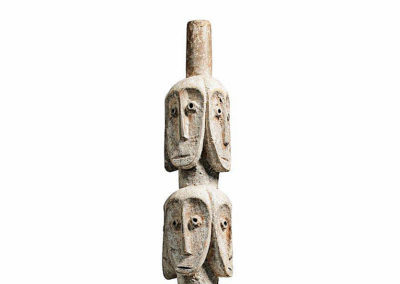 Rare Lega Several Heads Figure (4)