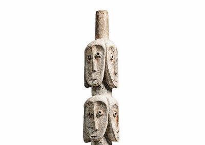 Rare Lega Several Heads Figure (4)