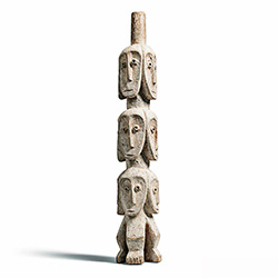 Rare Lega Several Heads Figure