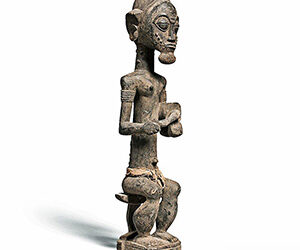 Superb Baule Seated Male Figure