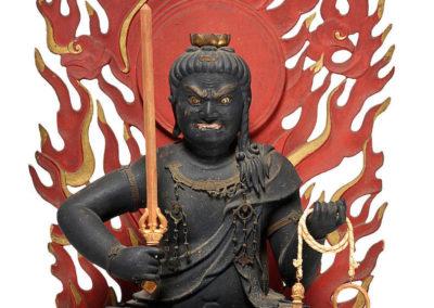 Highly Important Wood Sculpture Fudo Myo-o (Acala) (2)