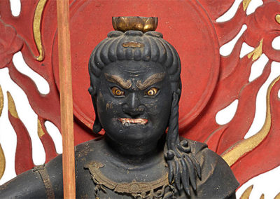 Highly Important Wood Sculpture Fudo Myo-o (Acala) (3)