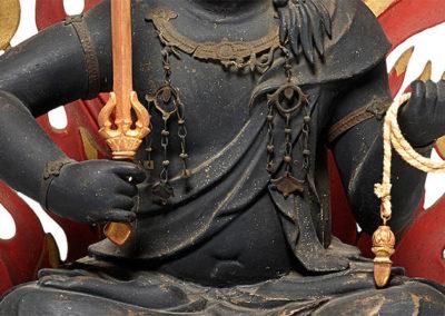 Highly Important Wood Sculpture Fudo Myo-o (Acala) (4)