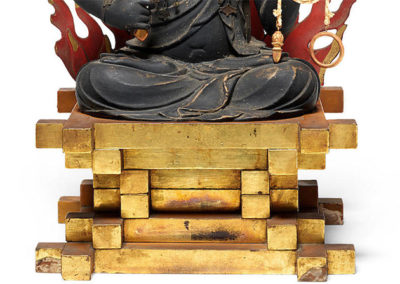 Highly Important Wood Sculpture Fudo Myo-o (Acala) (5)