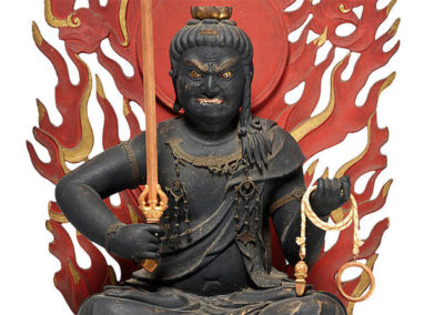 Highly Important Wood Sculpture Fudo Myo-o (Acala) (6)