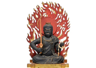 Highly Important Wood Sculpture Fudo Myo-o (Acala) (7)
