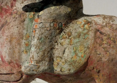 Painted Red Pottery Female Polo Player Astride a Galloping Horse (6)