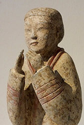 Extremely Rare Pottery Kneeling Entertainer