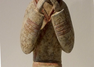 Extremely Rare Pottery Kneeling Entertainer (2)