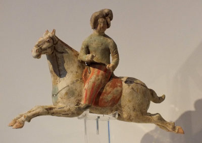 Female Polo Player Astride Galloping Pony (2)