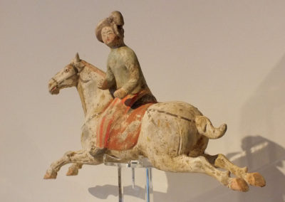 Female Polo Player Astride Galloping Pony (3)