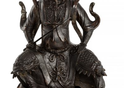 Large Black Lacquered Bronze Figure Guandi 21 (1)